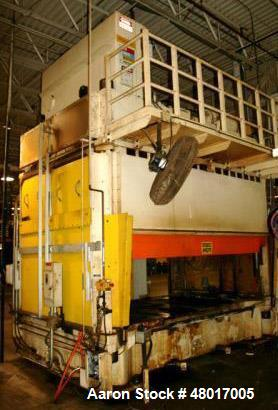 """Used- 100 Ton Hamilton Gib-Guided Compression Modling Press, Model 100AP082. Max. stroke 30"""", max. daylight to bed 48"""" (18"""" ..."""