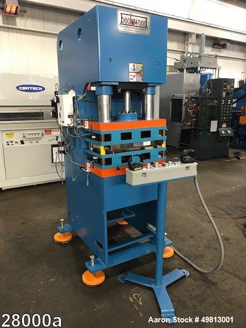 Used- Beckwood Hydraulic C Frame Press, Model CF37F1226, 37 Ton.