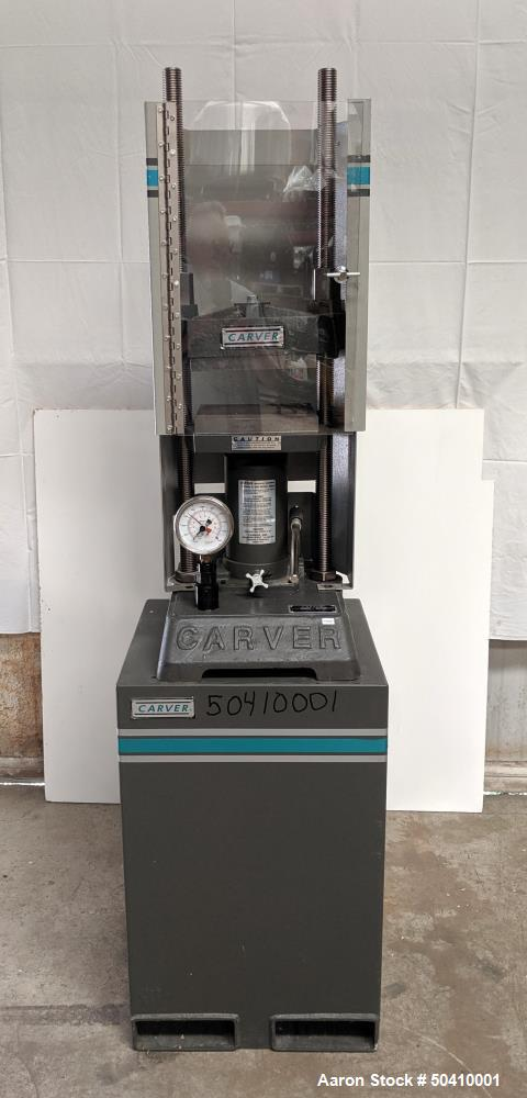 Used- Carver Manual 2 Column Hydraulic Press, Model 3853-OC.