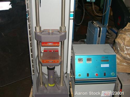 """Used- Carver Auto """"C"""" Two Post Hydraulic Press. Model 38894D1000. 15 Ton capacity. 6"""" x 6"""" heated platen. 6"""" stroke.0""""-15"""" d..."""