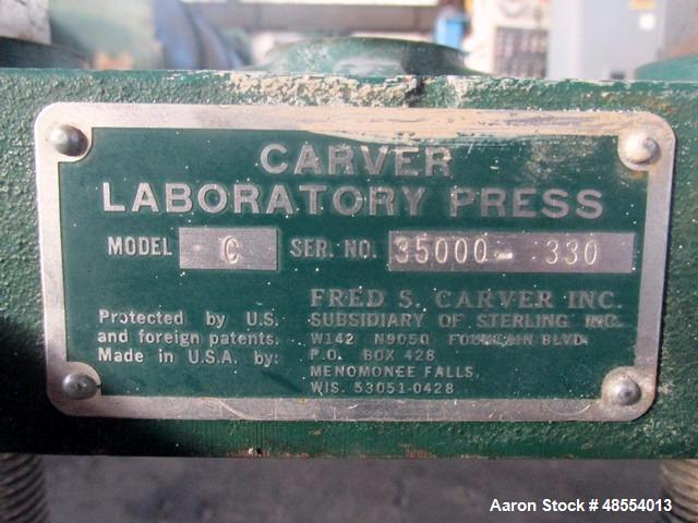 Used- Carver Laboratory Press, Model C.