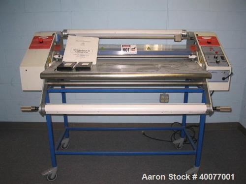 Unused-Used: Carver 30 ton platen press, 2' x 2' platen.  Includes Genesis 11 Slitter; (2) Amtech 20 ultrasonic welders; Eye...