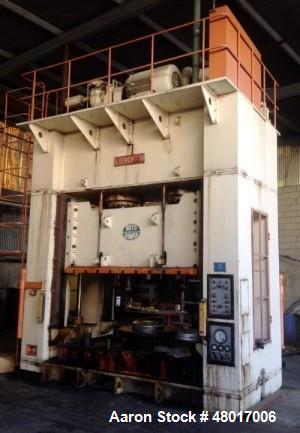 """Used- 500 Ton Sutherland Gib-Guided Hydraulic Press, Model ID-500. 39.3"""" Max. Stroke, 51"""" Max. Daylight to Bed; 98.4"""" RL x 6..."""