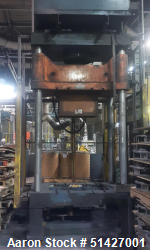 Used- Griffin Trelleborg, Shuttle Type, Rated 80 Ton Trim Press