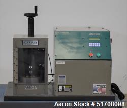 "Used- Carver AutoPellet Press, Model 3887.1SD0A06. 25 Ton maximum clamp force. 5"" Diameter platen. 13MM Die. Ram stroke 1"". ..."