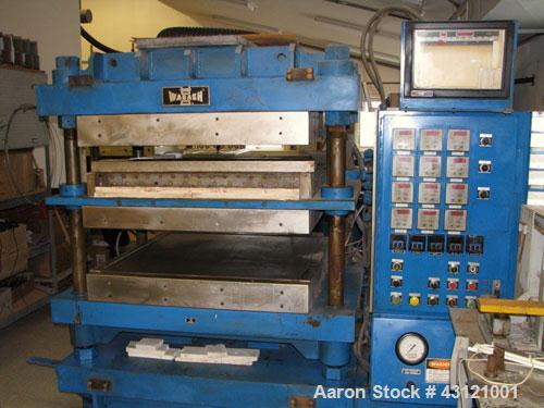 Used- Wabash 50 Ton Molding and Laminating Press,