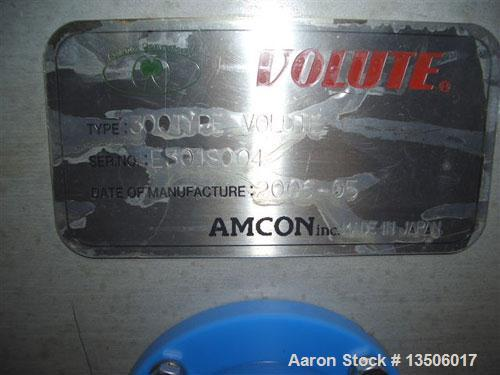 Used-Amcon Dewatering Screw Press, model ES-301. For removal of wastewater solids. Single screw unit with screw diameter of ...