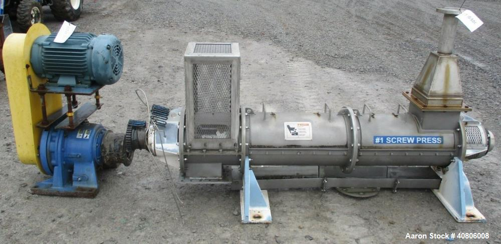 Used- Black Clawson /Kadant Tapered Screw Dewatering Press, Model S2302.