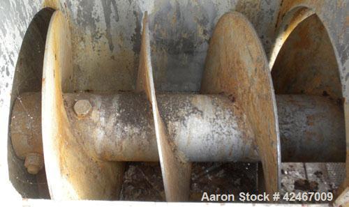 Used- Stainless Steel Continental Conveyor & Machine Works Dewatering Screw Conv
