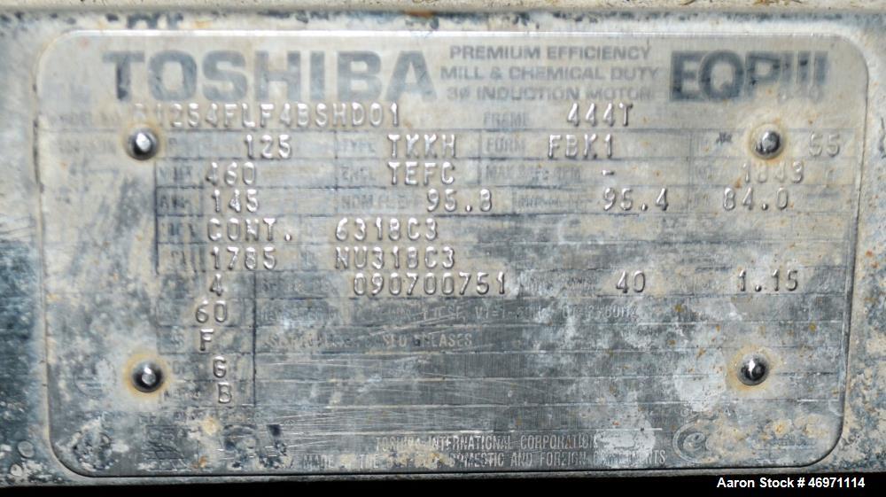 Used- FKC Screw Press, Model SHX-700X3500L