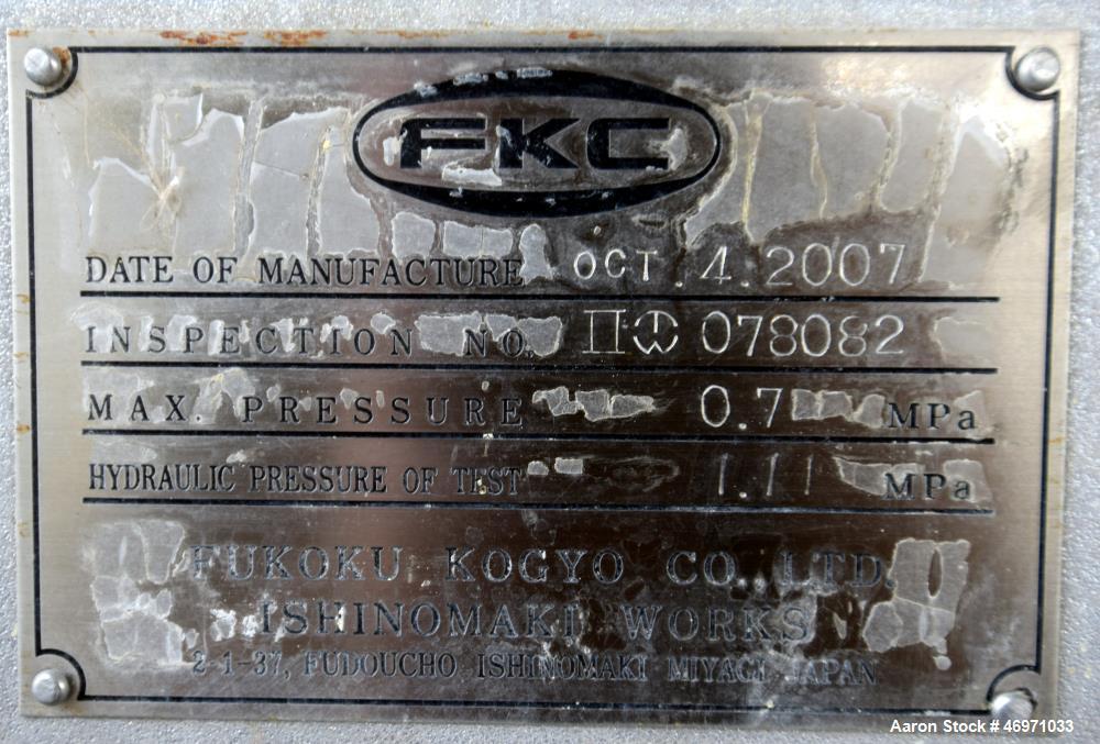 Used- FKC Screw Press, Model SHX-800X6000L