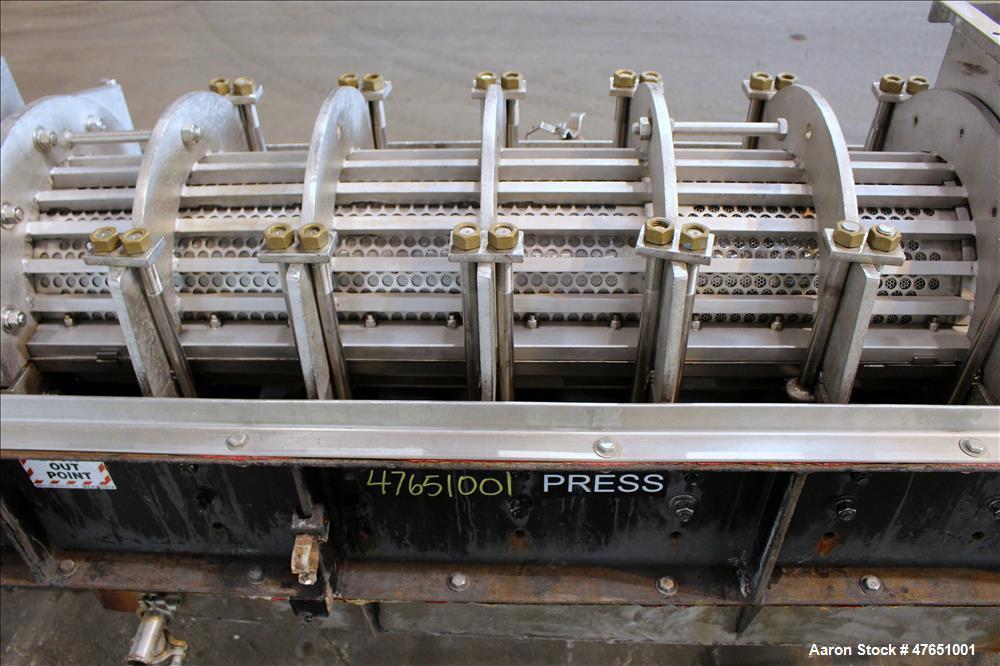 "Used- Heyl & Patterson / Renneburg 12"" Diameter Multi-Stage Mechanical Screw Pre"