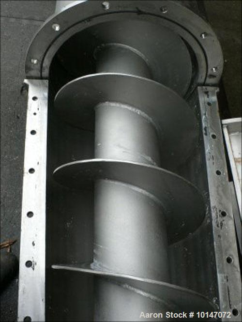 Used- Stainless Steel Kollemann Adenau AJK-RSF-KOM DN450 3000LG Screw Dewatering