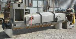 Used- Stainless Steel Continental Conveyor & Machine Works Dewatering Screw Conv