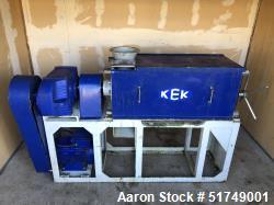 Used-KEK Screw Press; Model KEK-P0101