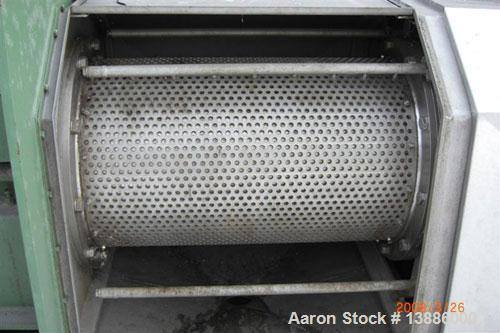 Used-Vette twin screw press, type EZv/Z. Material of construction is AISI 316 stainless steel on product contact parts. Max ...