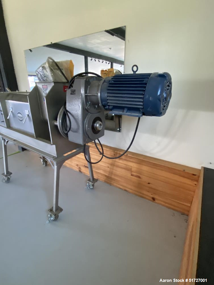 """Unused - Vincent Screw Press, Model CP-6, 6"""", Stainless steel.  5 HP Motor. With Westinghouse TECO E510 Control.  Built 2019."""