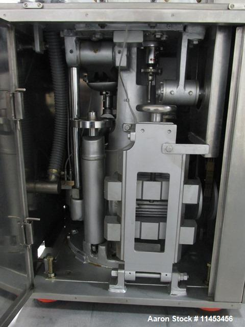Used-Used CPT (CapPlus Technologies) Econoline-M rotary tablet press, 16 stations, B tooled, keyed upper punch guide, feed h...