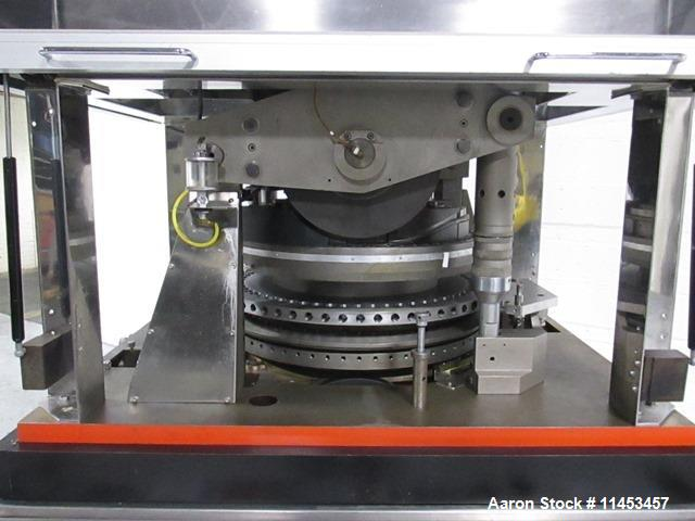 Used-Used Manesty Rotapress MK IIA rotary tablet press, 61 station, double sided, with pre-compression, 6.5 tons compression...