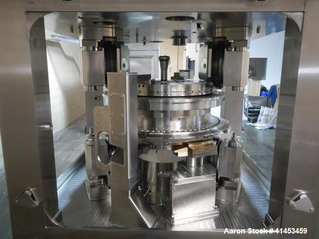 Used-Used Fette 3090i WiP rotary tablet press with containment, 75 station segmented turret, 100 Kn pre-compression, 100 Kn ...