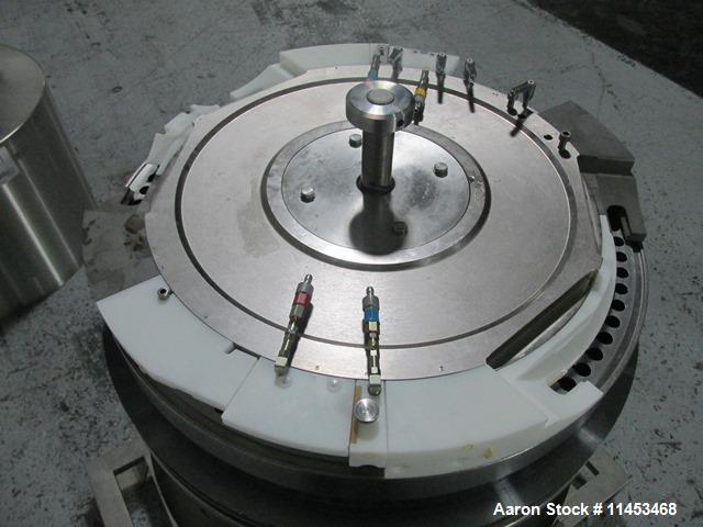 Used-One (1) used 73 station Fette turret for model 3090I press, 13 mm max tablet diameter, 18 mm max depth of fill.