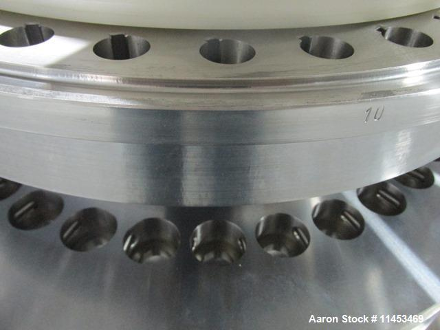 Used-One (1) used 36 station Fette turret for model 2090I press, 16 mm max tablet diameter, 18 mm max depth of fill.