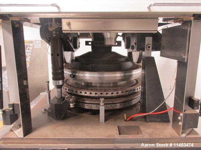 Used-One (1) used Manesty Rotapress MK IIA rotary tablet press, 61 station, double sided, with pre-compression, 6.5 tons com...