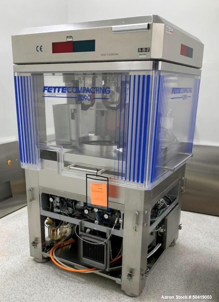Used- Fette Model 2090i Tablet Press.