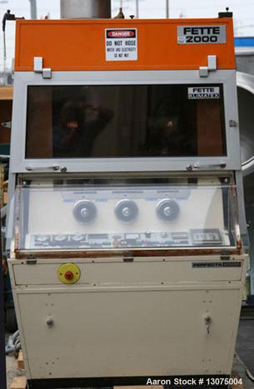 Used-Fette D-Tooled Tablet Press, Model Perfecta 2000