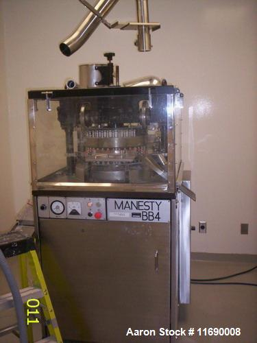 Used-Manesty Double Sided 35 Station Rotary Tablet Press, Model BB4-35