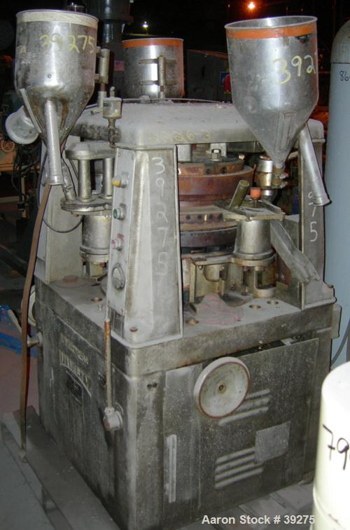 """Used- Manesty Tablet Press, Layer Press Series 47. 3 Layer, (47) 1"""" diameter holes,  420-1500 layer tablets per minute. Max ..."""