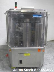 Used Korsch XL 800 rotary tablet press, 87 station. 100 Kn main compression with 100 kN pre-compress...