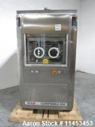 Used IMA Comprima 300 rotary tablet press, stainless steel product contact parts, 36 station turret,...
