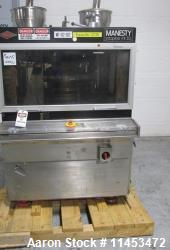 One (1) used Manesty Rotapress MK IIA rotary tablet press, 61 station, double sided, with pre-compre...