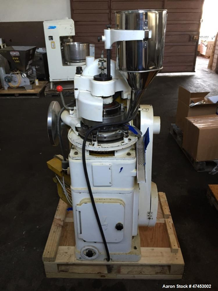 Used- Noah (15) Station Rotary Tablet Press, Model ZP15. Maximum pressure 50KN, approximate production capacity 20,400 to 40...