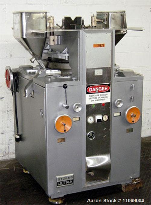 Used-Stokes Ultra Tablet Press with keyed head, model 900-565-1.  65 Station, 10,000 tablets per minute, tablet size up to 7...
