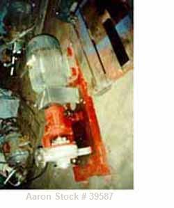 "Used- Duriron Pump, Size 3 x 2-7/65. Nickel alloy head, painted mild steel frame, alloy impeller, 6"" flanged head, 2"" produc..."