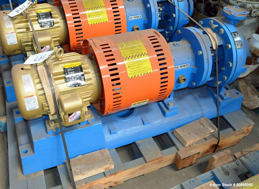Used- Summit Centrifugal Pump, Model 2196MTO