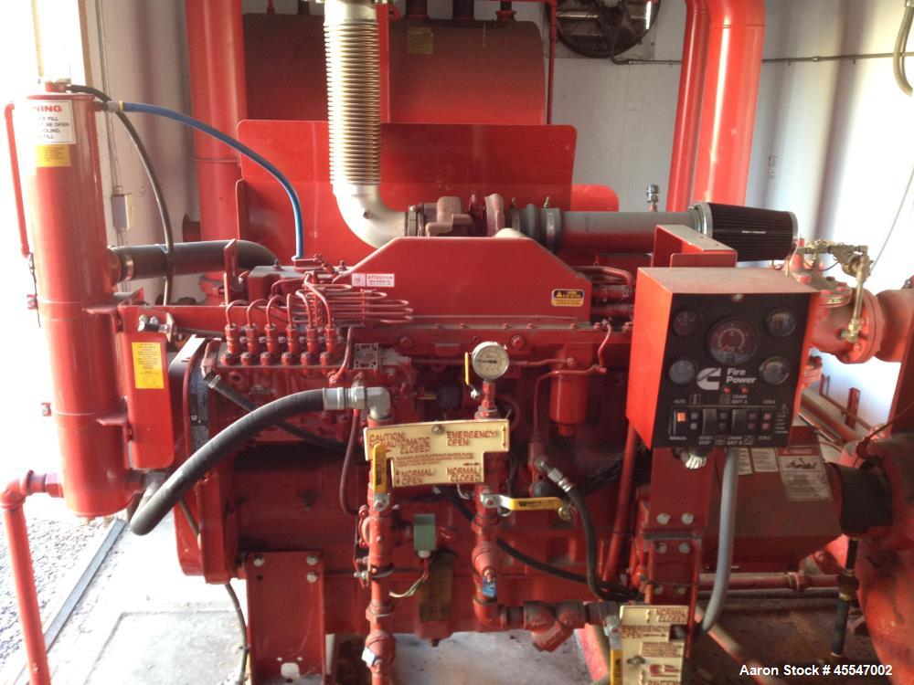 Cummins Diesel For Sale >> Used- Complete Tiger Flow Diesel Fire Pump System