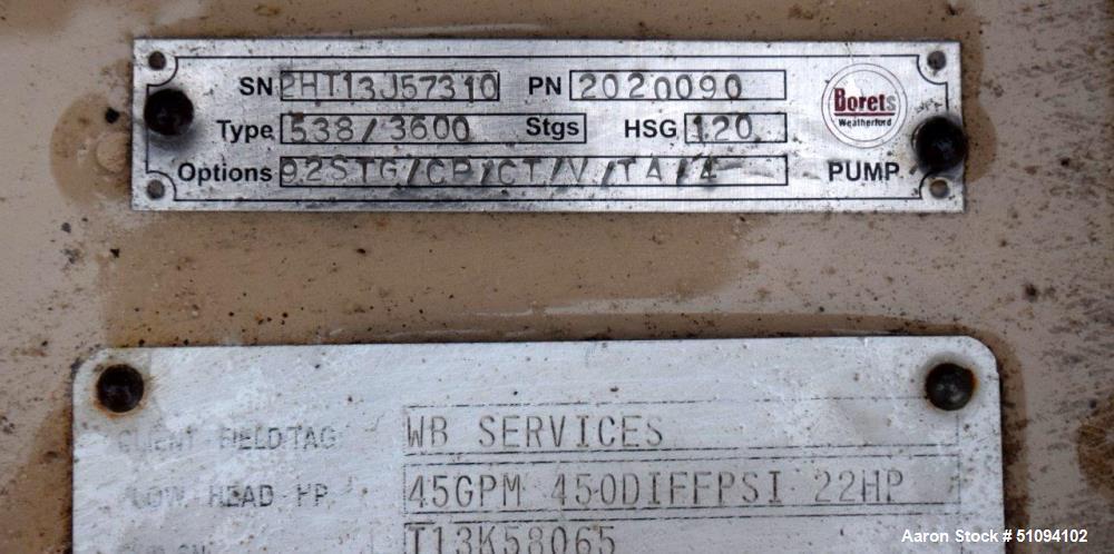 Used- Borets HPS Horizontal Multistage Centrifugal Pump