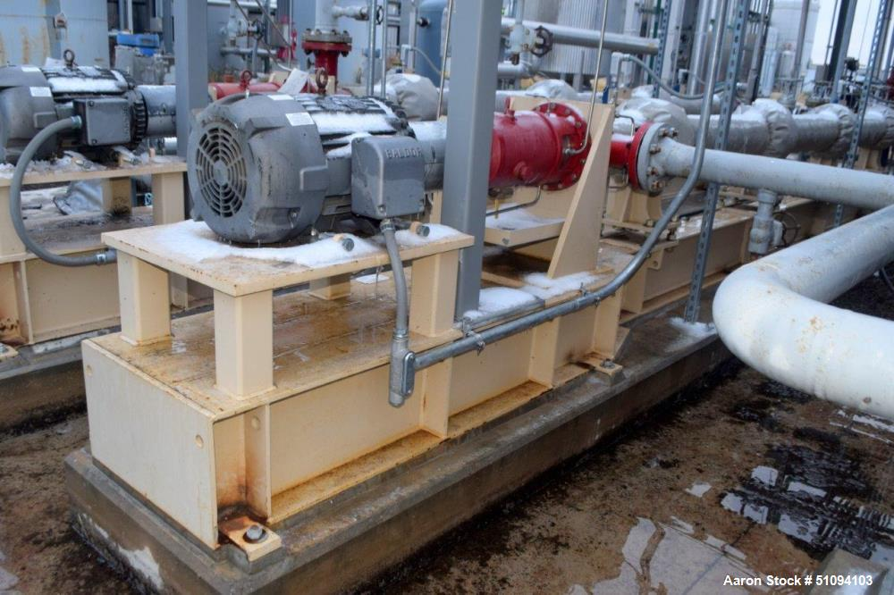 Used- Borets HPS Horizontal Multistage Centrifugal Pump, Type 538/3600, Carbon Steel. Approximate 45 gallons per minute. Dri...