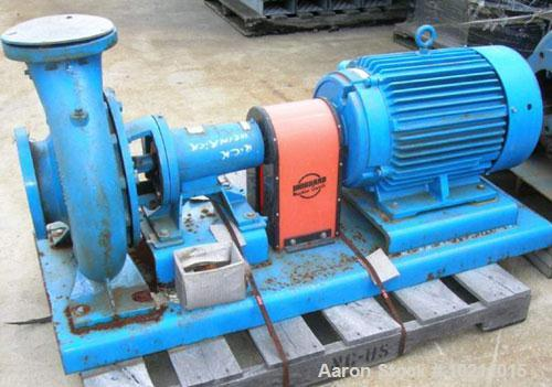 Used-Carver Frame Pump Package, model GHF 6X5X13, size EF. 900 gpm @ 139 TDH. Cast iron construction. Marathon 50 hp motor 1...