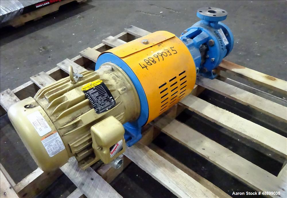 Used- Goulds Centrifugal Pump, Model 3196, Size 1