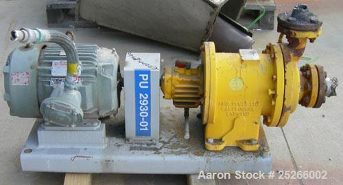 Used- Kontro Sealless Centrifugal Pump, Model HS1DL, carbon steel. Rated 85 gallons per minute at 117' head at 275 psi at 36...
