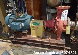 Used- Armstrong Centrifugal Pump, Model 4030, Size 6x4x10, Carbon Steel. Capacity 636 gallons per minute at 85' head at 175 ...
