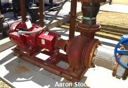 Used- Bell & Gossett Centrifugal Pump, Size 1510-BF-9.25, Carbon Steel. Rated 1250 gallons per minute at 75' head at 1800 rp...