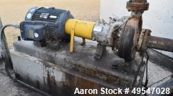 Used- Durco Mark III Centrifugal Pump, Carbon Steel. Size 2K4X3-13RV/12.31. Driven by a 40hp motor. Serial# 0108-3225, built...
