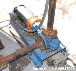 Used- Gorman-Rupp Gear Pump, Model GHS2GJ3-B, Carbon Steel. Driven by a 2hp XP motor. Serial# 1547652.