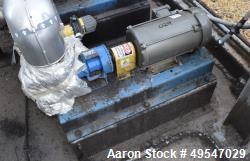 Used- Gorman Rupp Gear Pump, Model GHS2GJ3-B, Carbon Steel. Driven by a 2hp XP motor. Serial# 1335531.