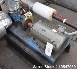 Used- Gorman Rupp Gear Pump, Model GHS2GJ9-B, Carbon Steel. Driven by a 2hp XP motor. Serial# 1595542.